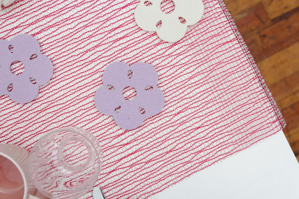 Verso Kukka felt coasters