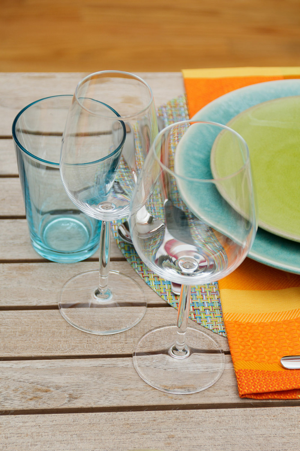 Diva Living Chardonnay and Riesling glassware