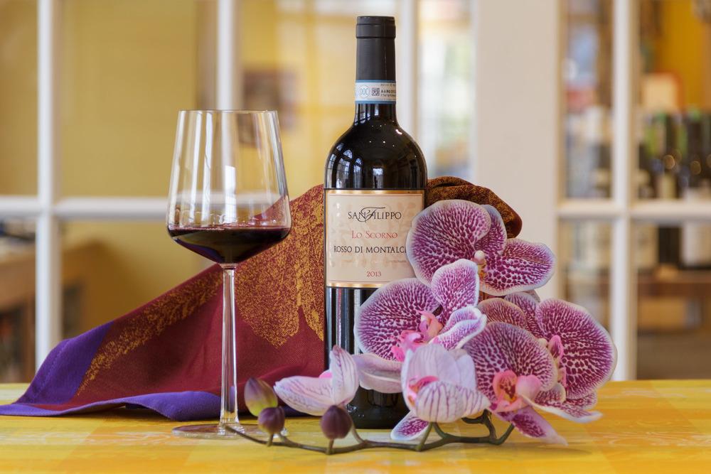 iittala Essence Red Wine Glass, Garnier-Thiebaut Abondance Cuivre tea towel
