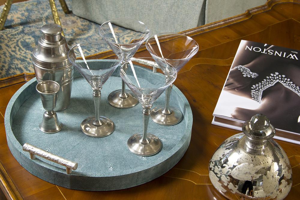 Match Pewter  Martini glasses ,  Cocktail Shaker ,  Jigger
