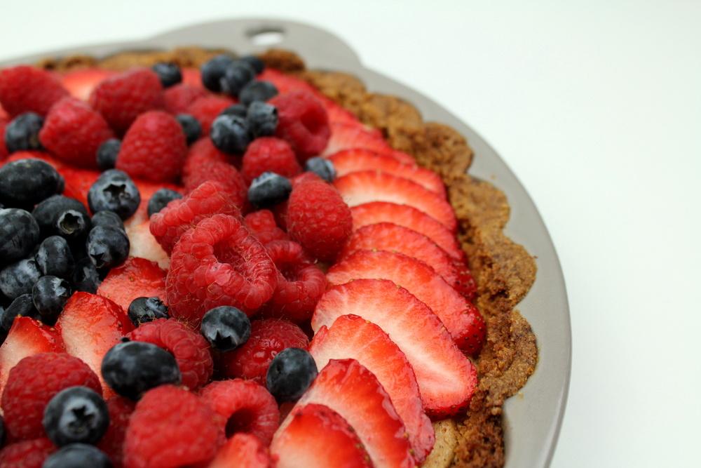 strawberry, blueberry, raspberry tart, Dorie Greenspan Baking Chez Moi