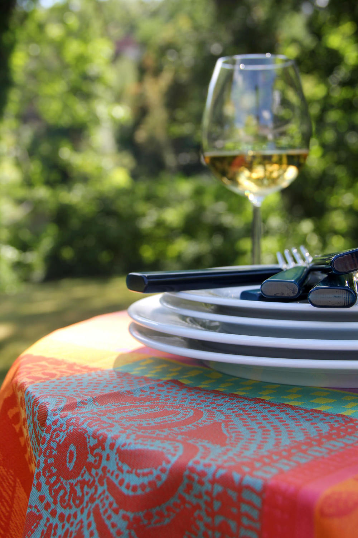 Garniet-Thiebaut coated cotton table linen in Mille Wax Creole