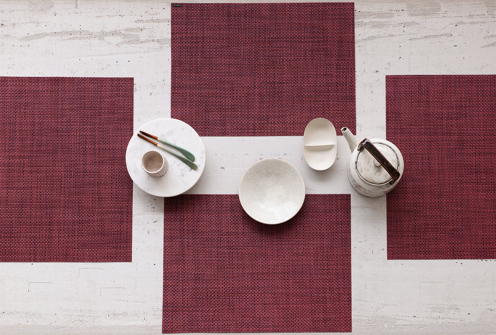 Basketweave Placemat in Plum