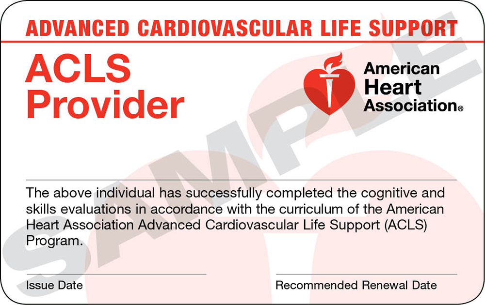 ACLS   Online + Hands-On Session   $200   (Initial & Renewal)