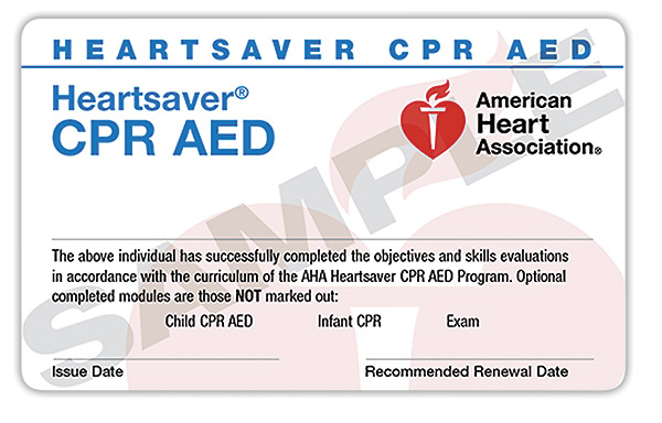 Heartsaver® CPR   Online + Hands-On Session   $70   (Initial & Renewal)