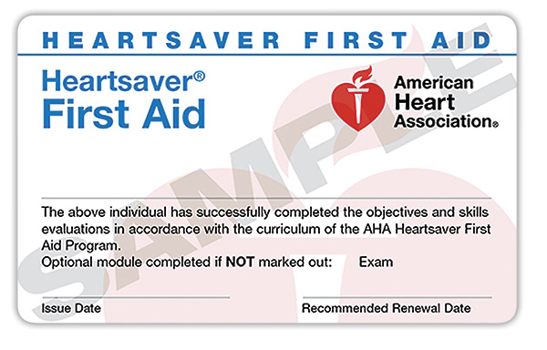 Heartsaver® First Aid Online + Hands-On Session   $70   (Initial & Renewal)