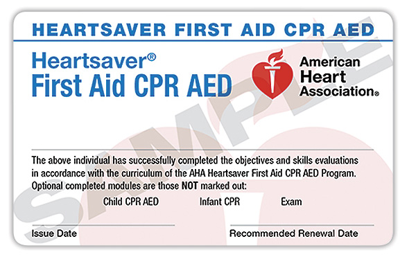 Heartsaver® CPR & First Aid     Online + Hands-On Session   $  130   (Initial & Renewal)