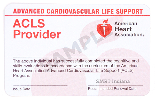 Advanced Cardiac Life Support (ACLS) - $110/student
