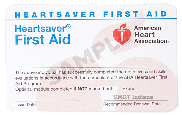 Heartsaver First Aid   (for Non-Medical Professional)  -  $55/student