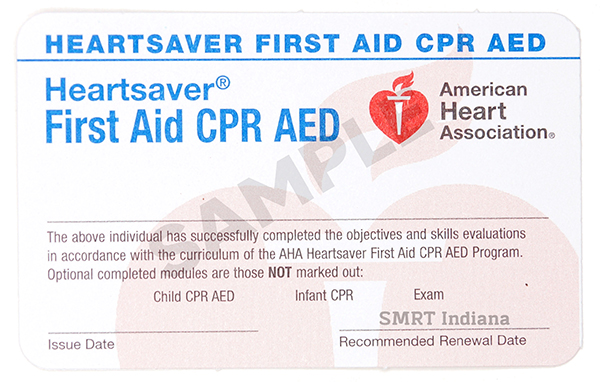 Heartsaver First Aid/CPR Combo (Non-Medical Professional) - $95/student