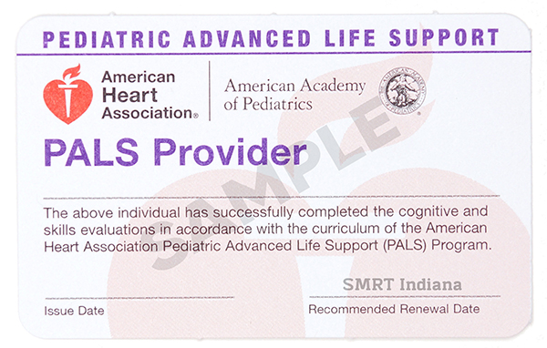 PALS Certification Classes — SMRT Indiana CPR, BLS, ACLS, PALS ...