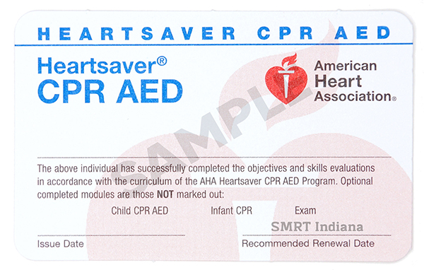 CPR/AED Certification — SMRT Indiana CPR, BLS, ACLS, PALS, First Aid ...