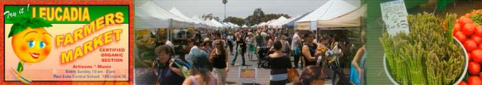 Come see us at the Leucadia Farmers Market on Sundays