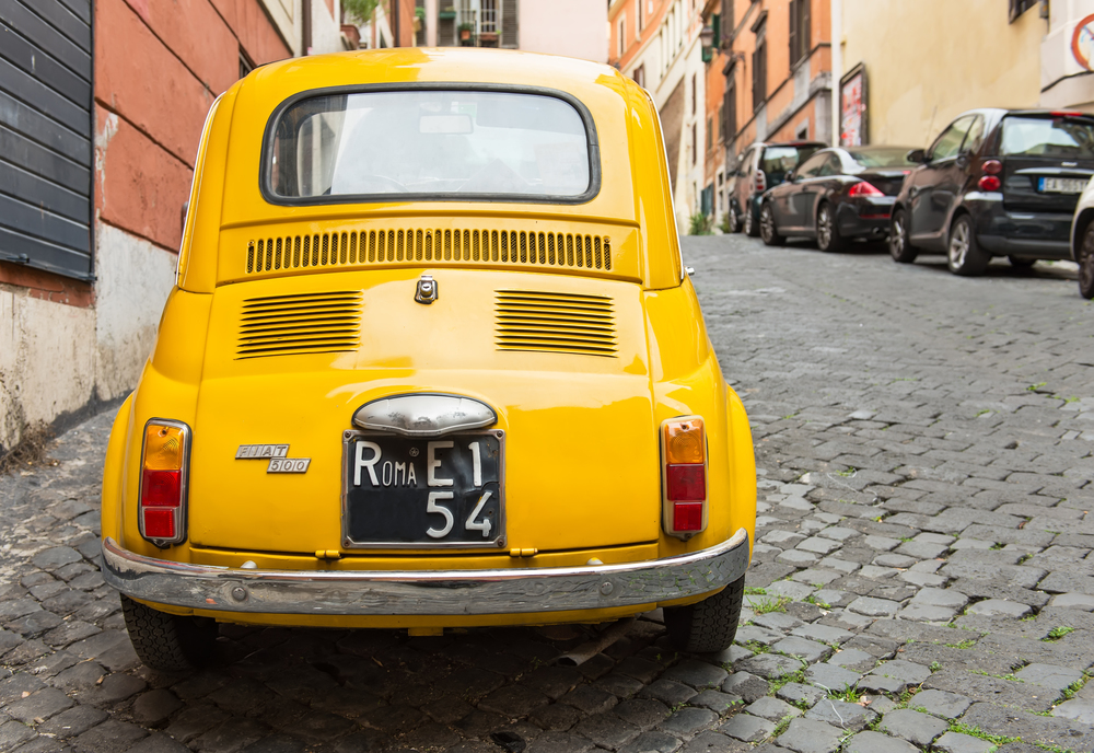 Fiat 500 in Rome Italy