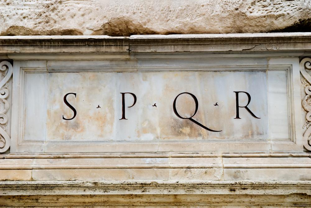 SPQR in Rome Italy