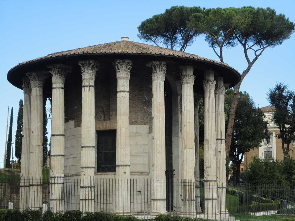 An Ancient Roman Temple near the Aventine Hill