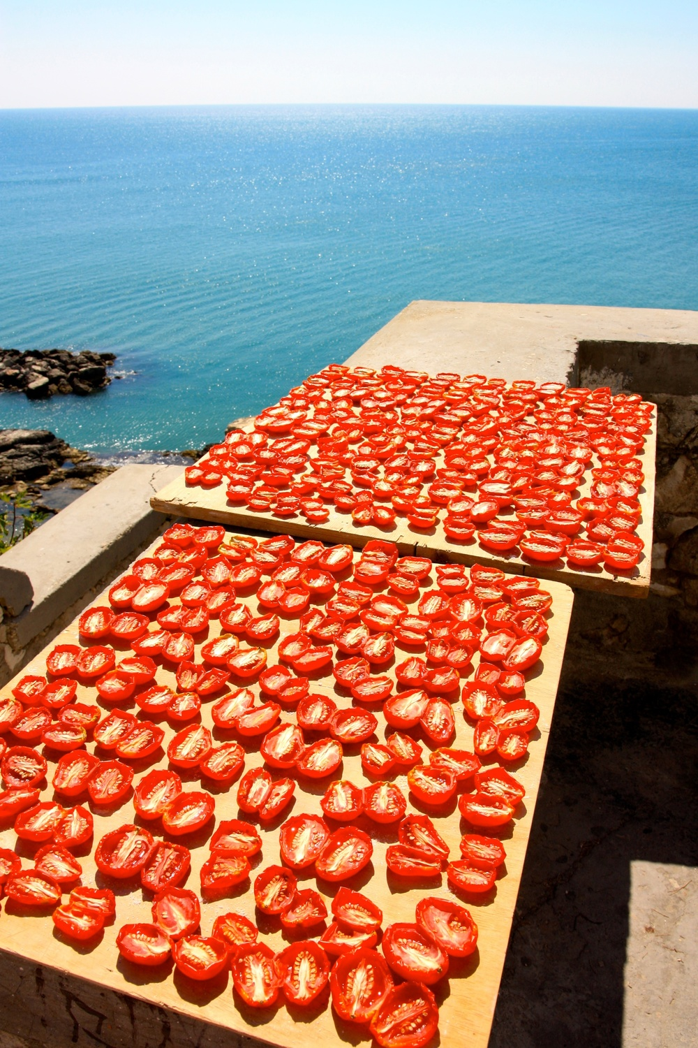 Sun dried tomatoes on the Amalfi Coast