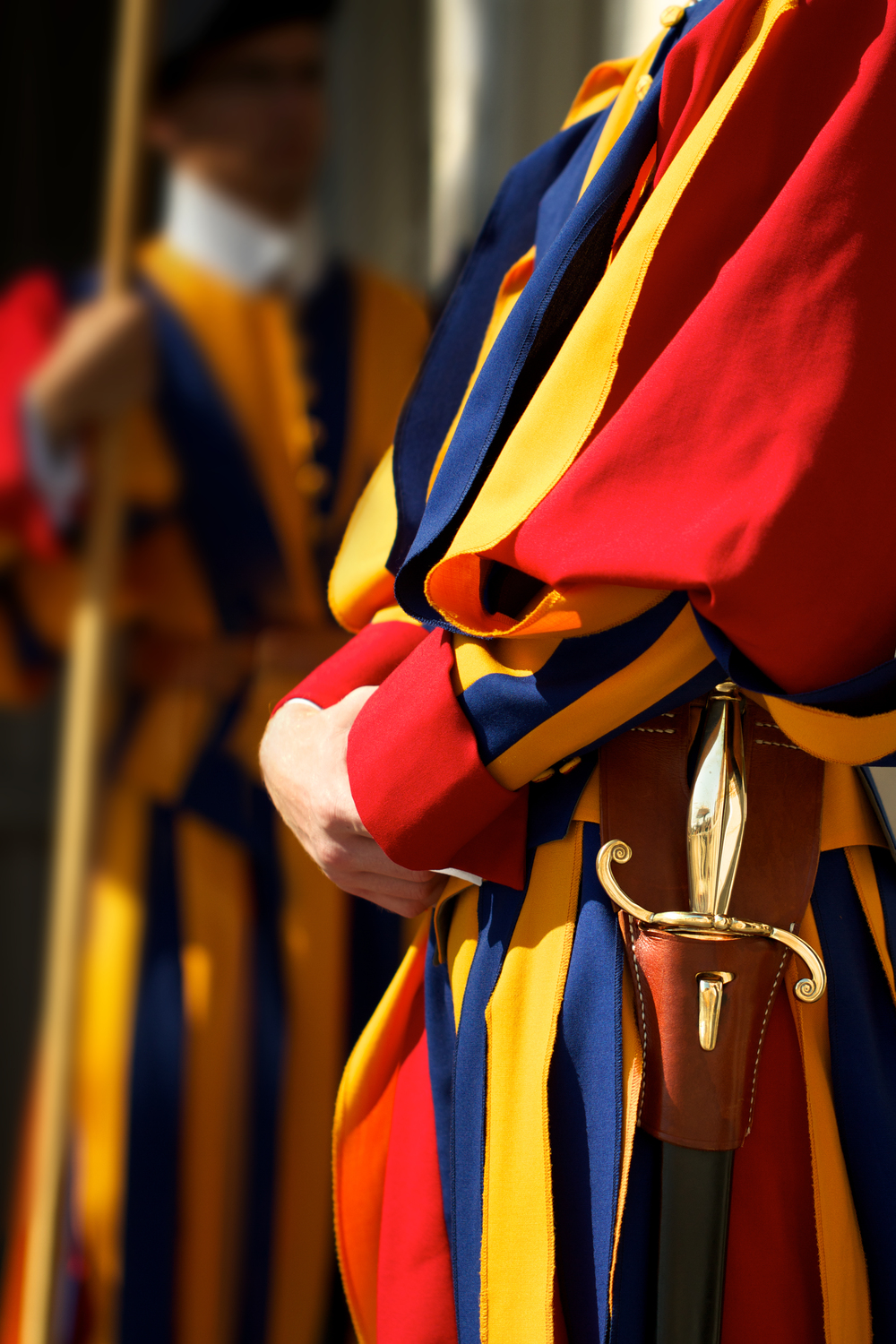 The fabulous uniforms of the Swiss Guard (designed by Michelangelo)