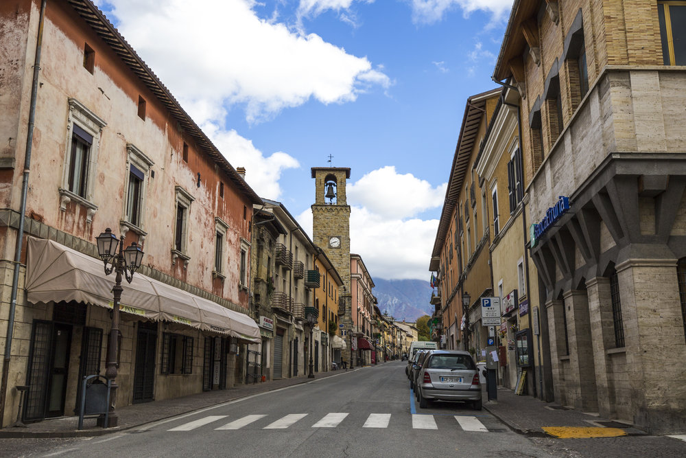 The town of Amatrice, before the earthquake