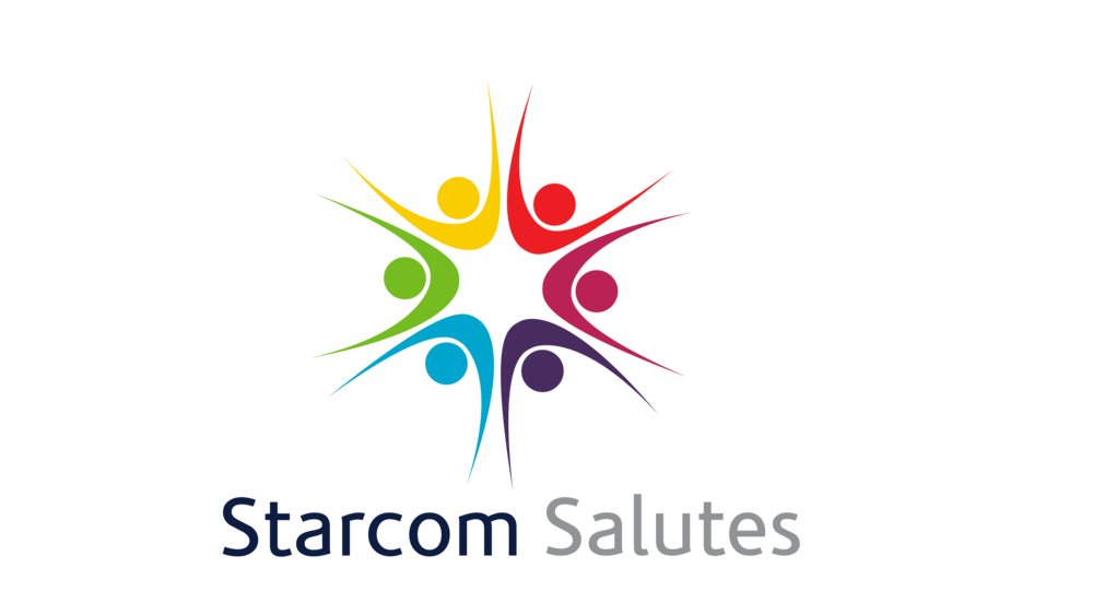 Sterling Sanders, Starcom Serves Logo V4