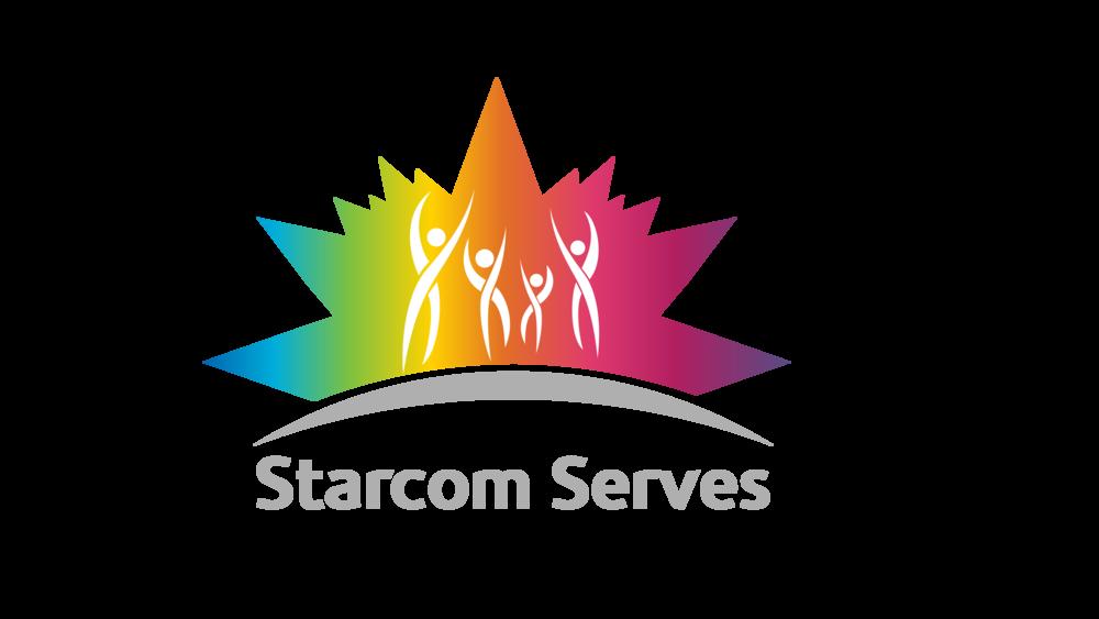 Sterling Sanders, Starcom Serves Logo V1