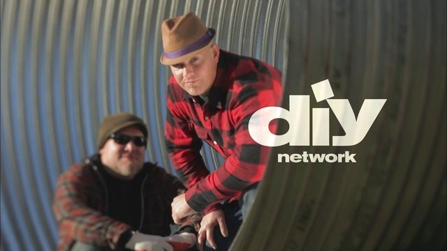 Jake Moss (right) host of the TV show 'Yardcore' on DIY Network.