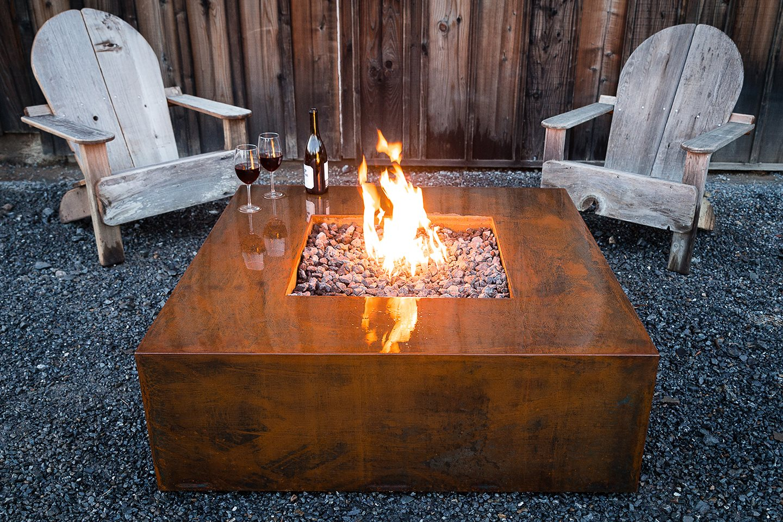 "36"" CORTEN METAL FIRE PIT (Natural Gas) — Jake Moss Designs - Landscape  Designer, Contractor, Landscape Architecture & Landscape Company of  Healdsburg & ... - 36"" CORTEN METAL FIRE PIT (Natural Gas) — Jake Moss Designs"