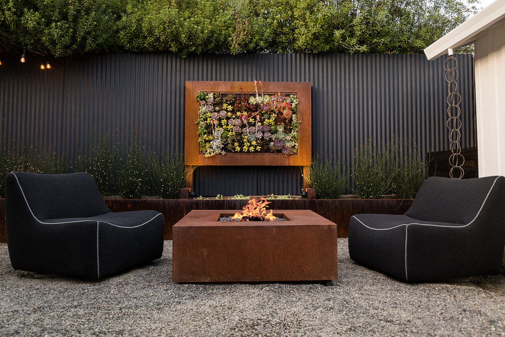 48 Corten Metal Fire Pit Natural Gas Jake Moss Designs