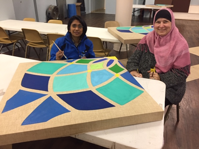 we love our volunteers - Thank you sisters Tagine and Safiyea for transforming our social hall into a beautiful room worthy of any occasion.