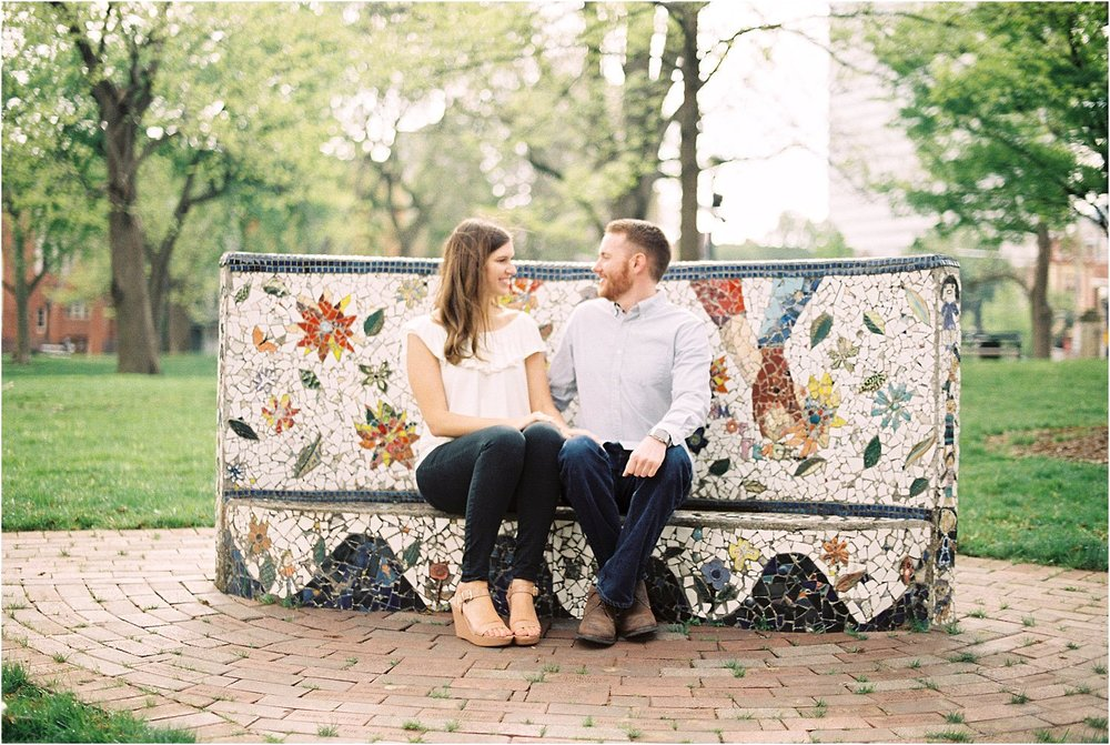Cincinnati Roebling Bridge Engagement | Amber & Nathan | Wedding Photographer