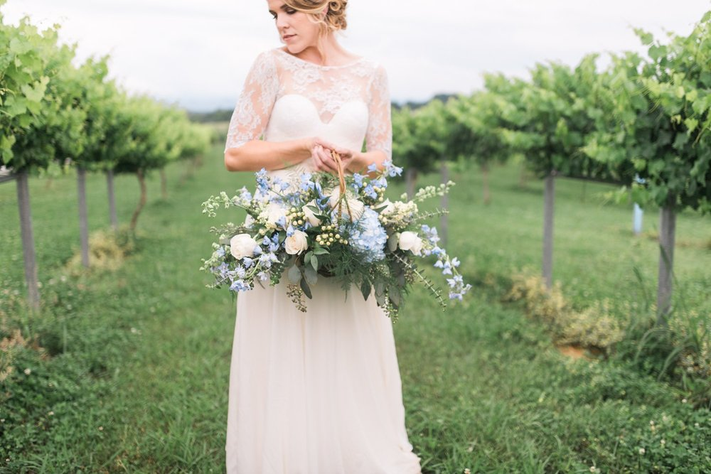 Tsali Notch Vineyard Wedding | Styled shoot | lace wedding dress | Flowy dress | portra 400 | film photography | Vineyard Wedding