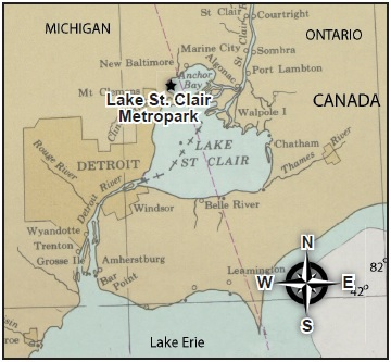 The project took place at Lake St. Clair Metropark (formerly knownas Metro Beach) in Harrison Township.