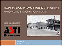 Hart Downtown Historic District Public Meeting