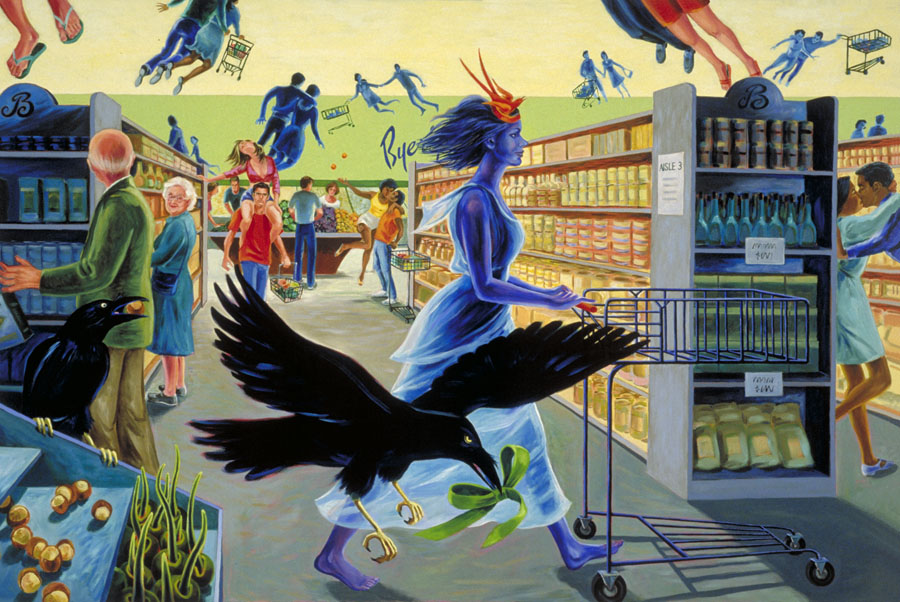 """Aphrodite at Byerly's""  oil on canvas  48"" x 72""  - SOLD"