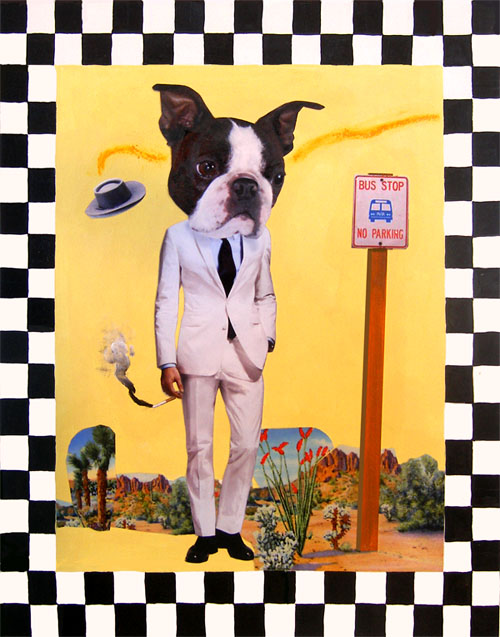 Dog Waiting for the Bus in Roswell, New Mexico - sold