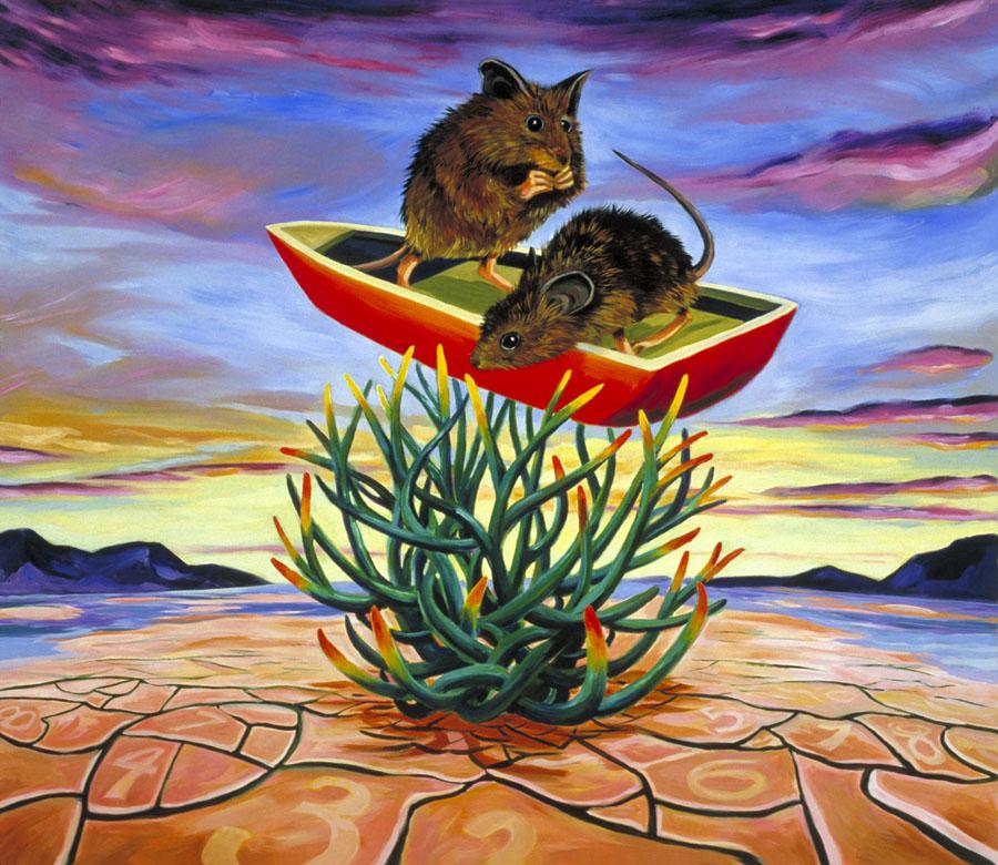 """Salt Marsh Harvest Mice""  oil on canvas 40"" x 30""  SOLD"