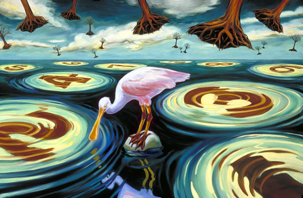 """Roseate Spoonbill""  oil on canvas  24"" x 30""  SOLD"