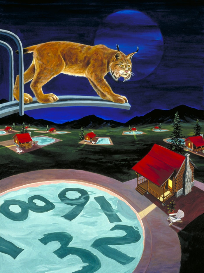 """Lynx""   acrylic on canvas  40"" x 30""  SOLD"