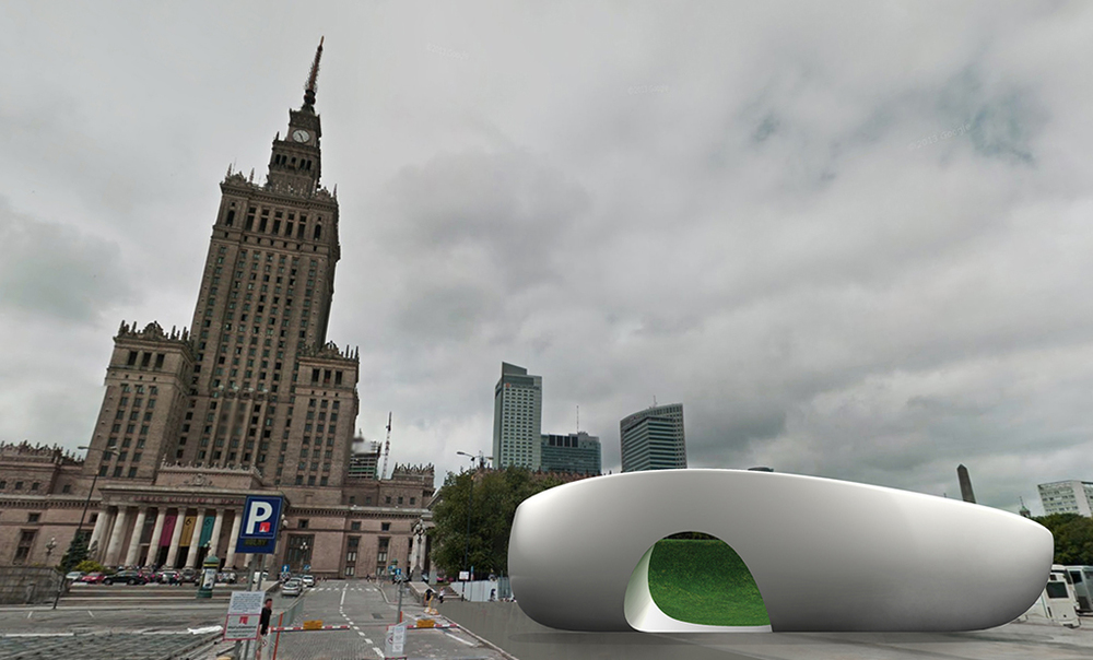 urban garden situated in Warsaw, Poland.