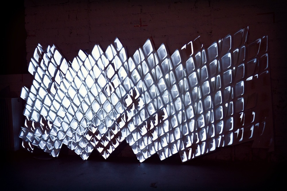 videomapping tests on one of the parts
