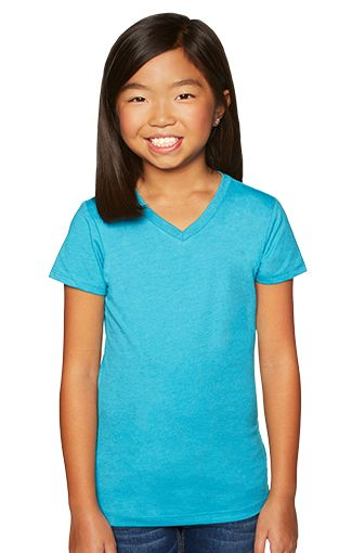 0d15bbbfa62 Girls Heathered V-Neck Tee — Freighters