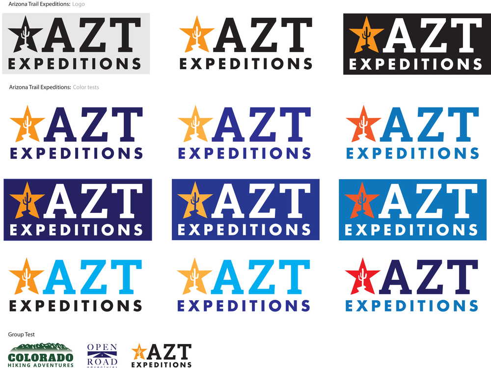 Arizona Trail Expeditions Logo Tests