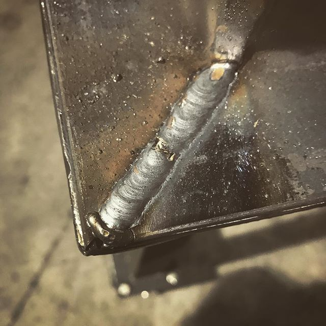 Wednesday night lines. I'm happy with these but there's a ton to learn and practice yet. Meta move making a welding table for your welding class project? #mig #welding #plasmacutter #continuingeducation