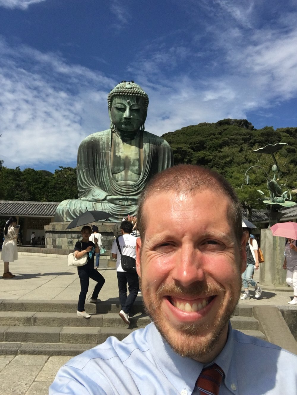 Me in front of the Kamakura Giant Budda (大仏). It is about forty feet tall.