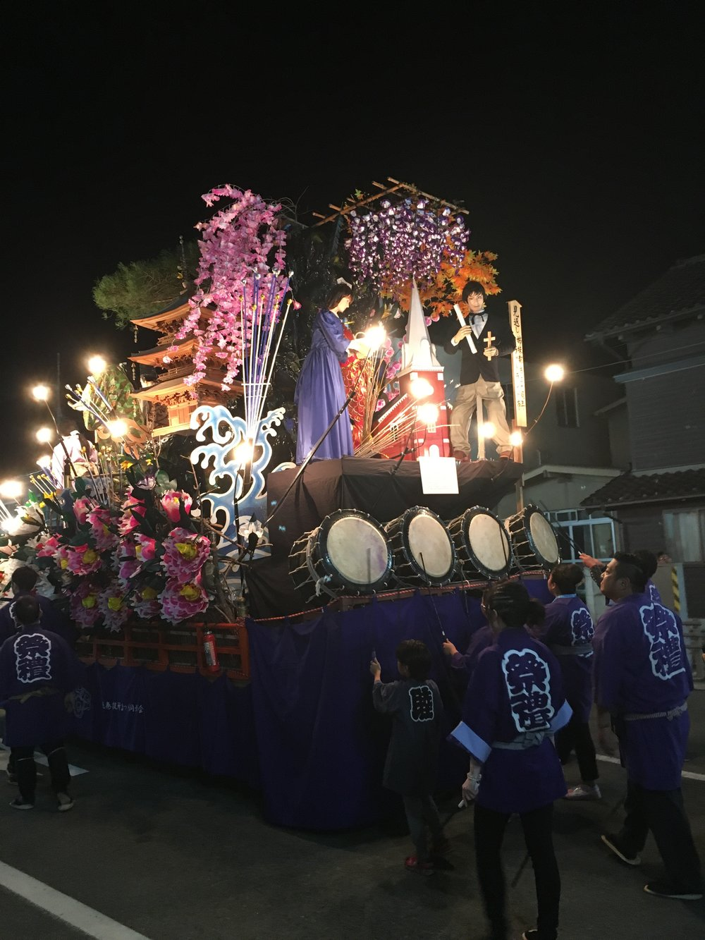 One of the many beautiful floats in the Hanamaki Autumn festival.