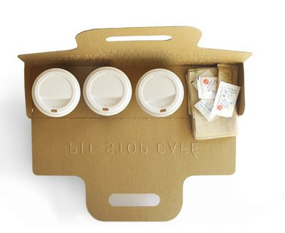 packaging | UQAM | Sylvain Allard Ifo bnly all the coffee deliveries were like theese..smart, efficiente, creative and sustainable.