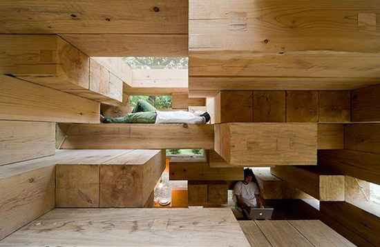 final wooden house by sou fujimoto architects small and primitive.
