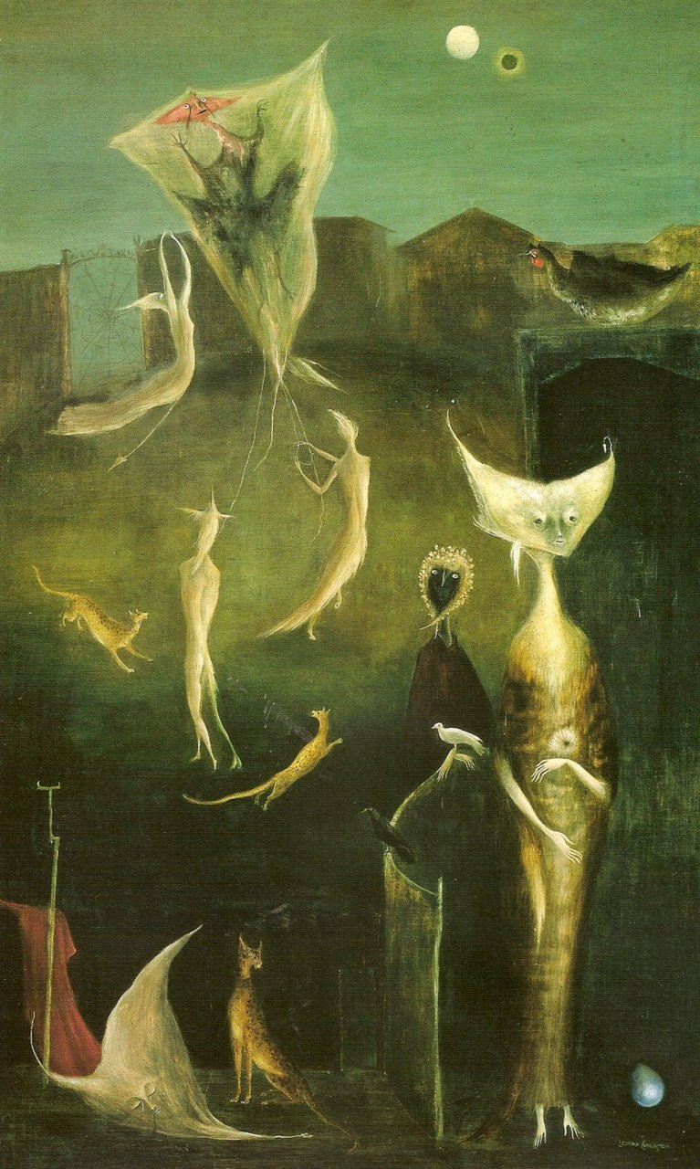 thesaltwaternight :      Leonora Carrington (1917-2011)      I sometimes dream like her paintings.