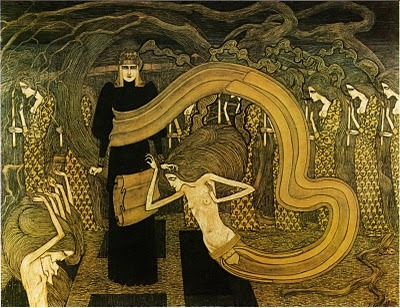 d-r-o-s-s: Jan Toorop, Fatalism (Fatalisme) | Dark Classics on We Heart It. http://weheartit.com/entry/17459640 tan Klimt.