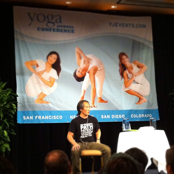 Rodney Yee at Yoga Journal conference (Taken with instagram)